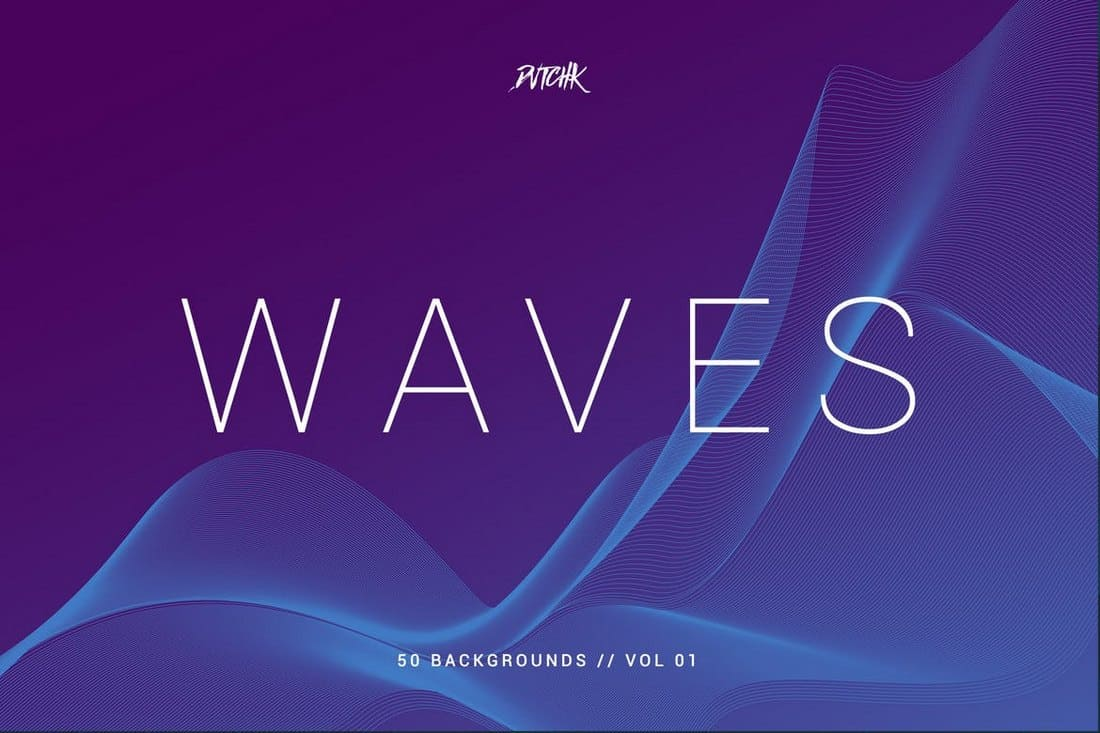 Waves Network Lines Backgrounds
