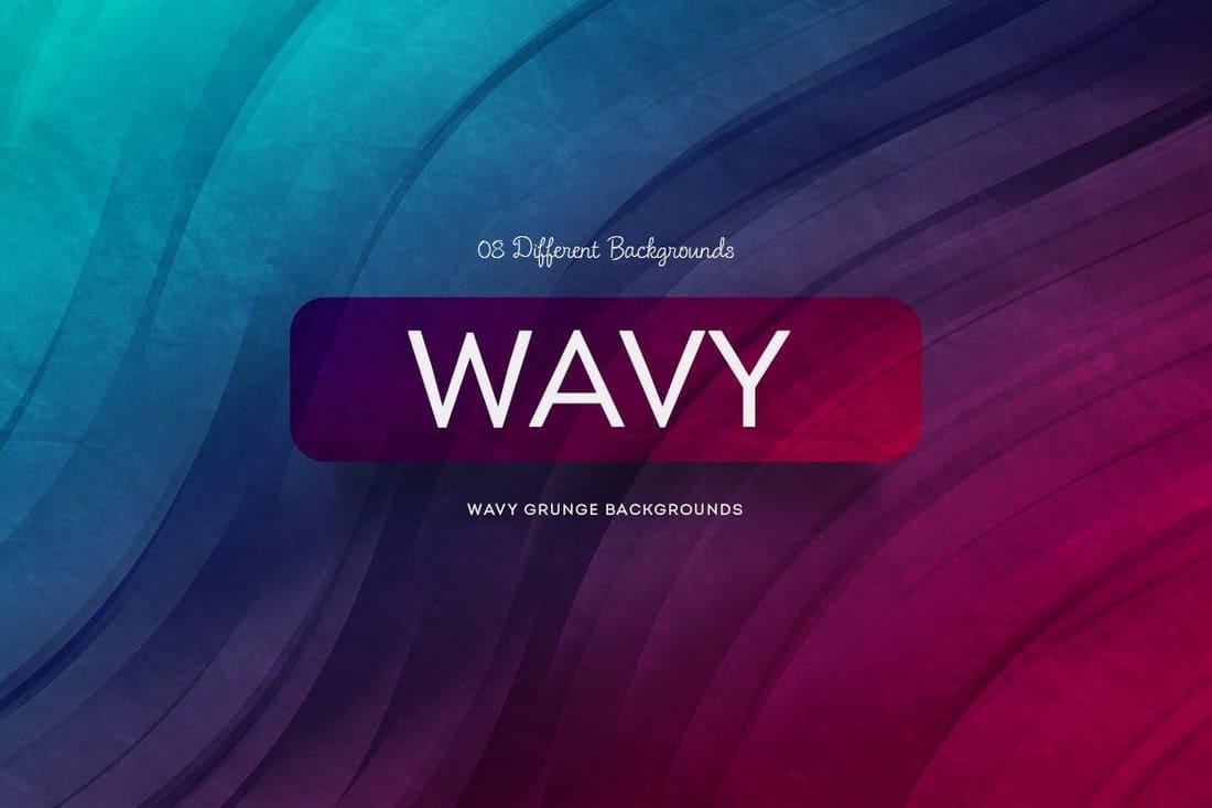 Wavy Grunge Backgrounds