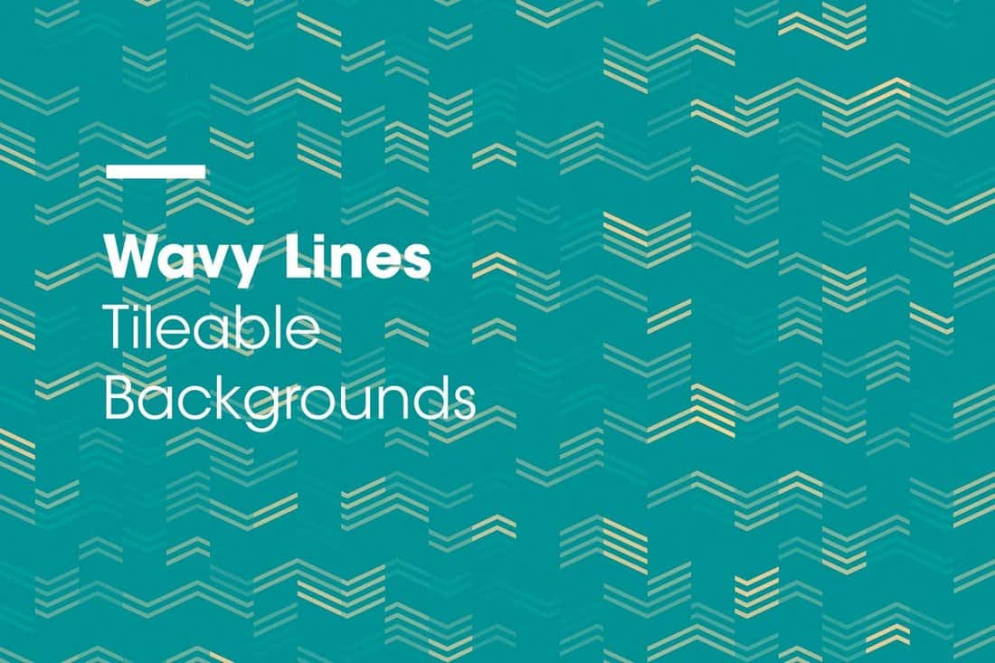 Wavy Lines Tileable Backgrounds