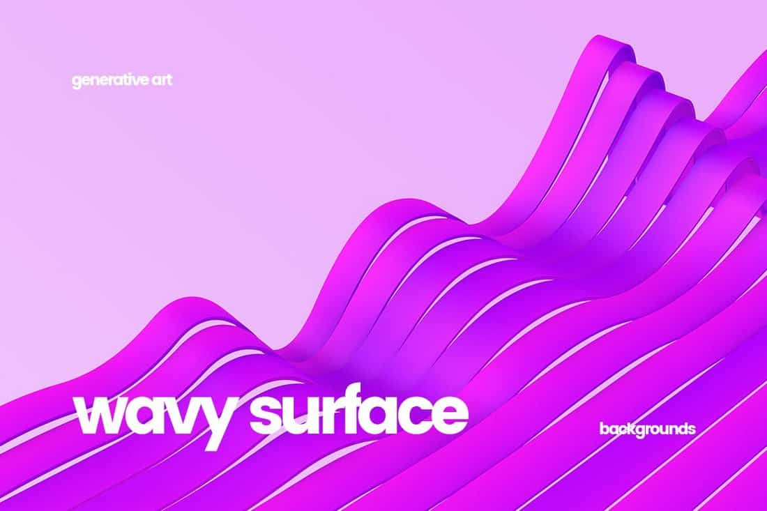 Wavy Striped Surface Backgrounds