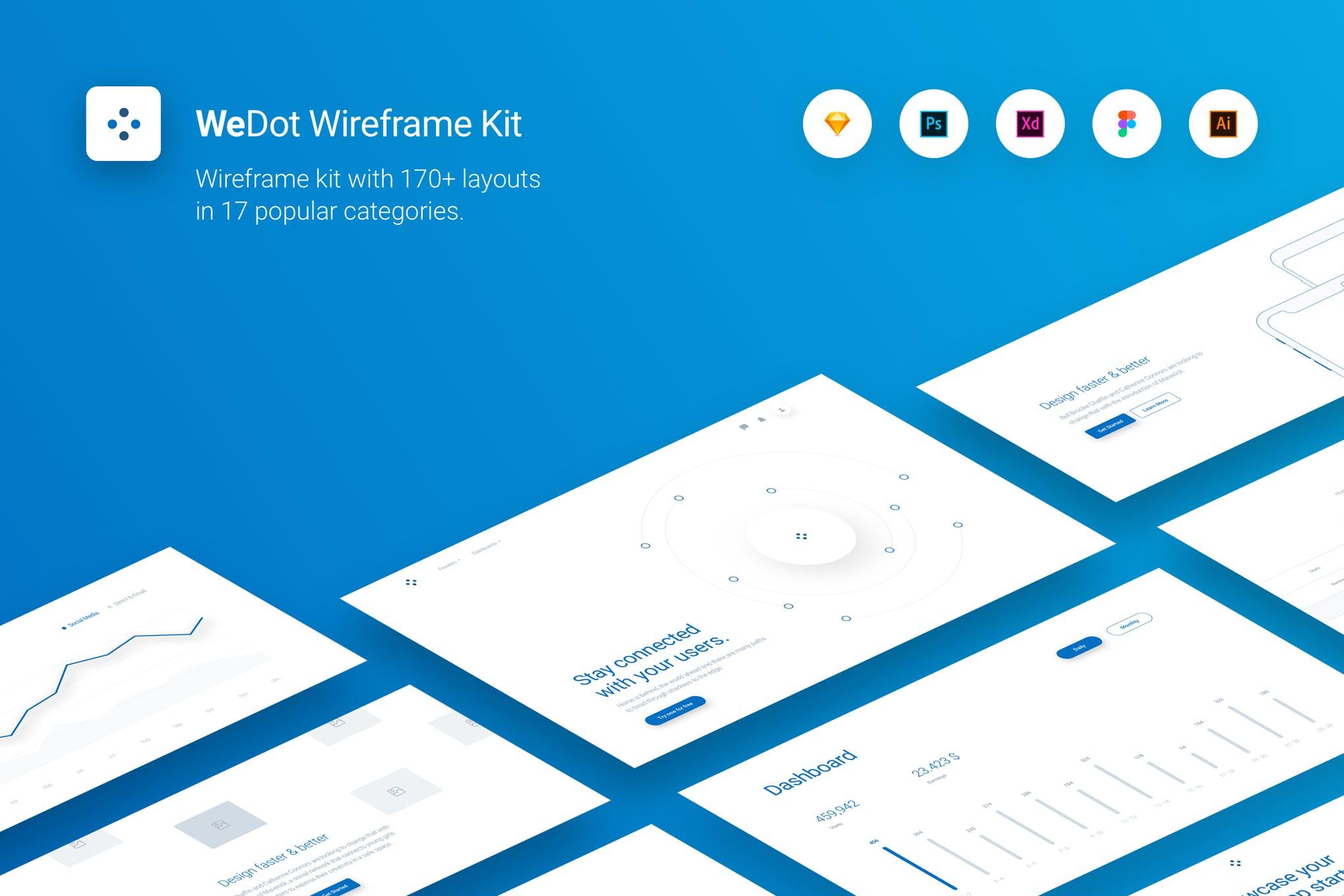 WeDot - Wireframe UI Kit