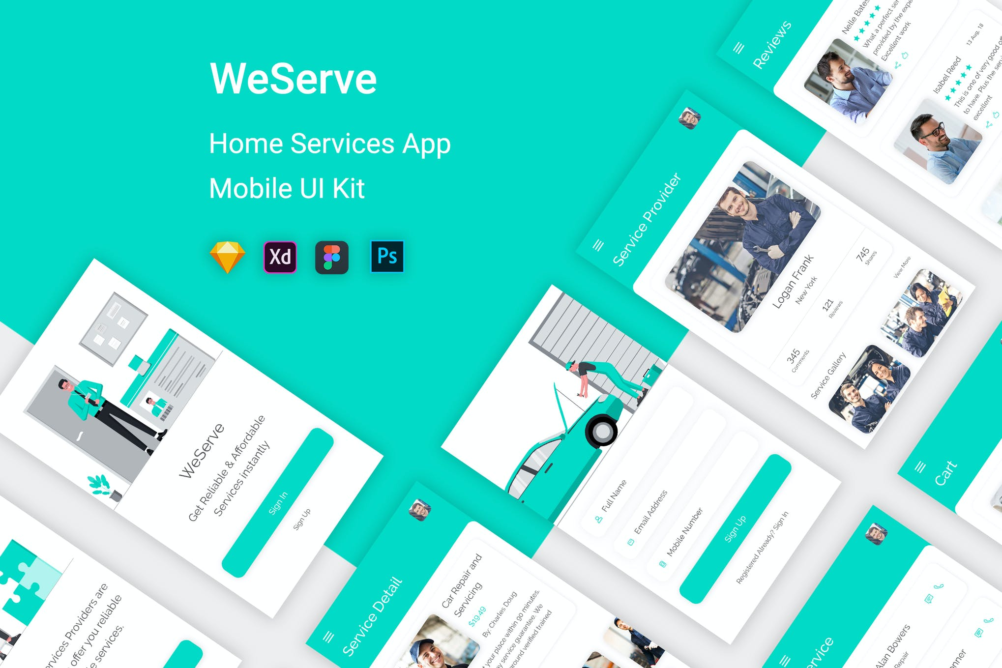 WeServe - Home Services UI Kit