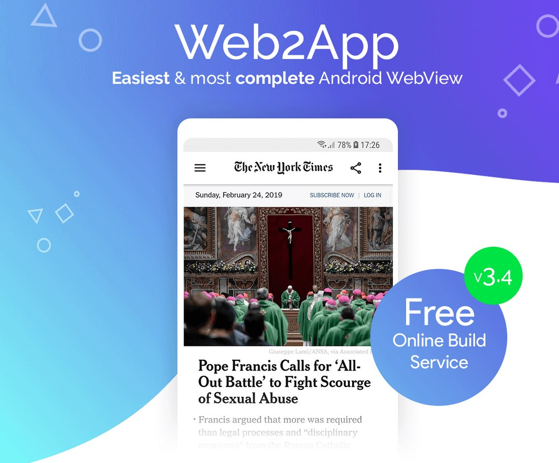 Web2App-1 20+ Best Android App Templates (For Mobile Apps) 2021 design tips
