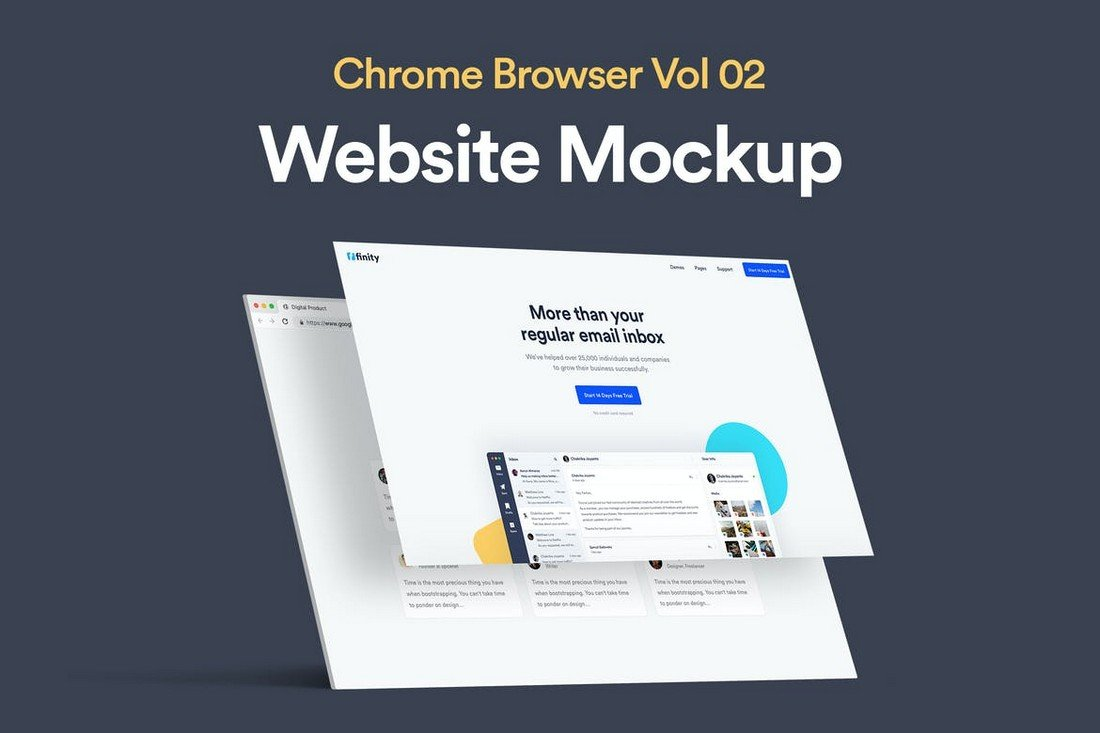 Website Mockup with Browser Template
