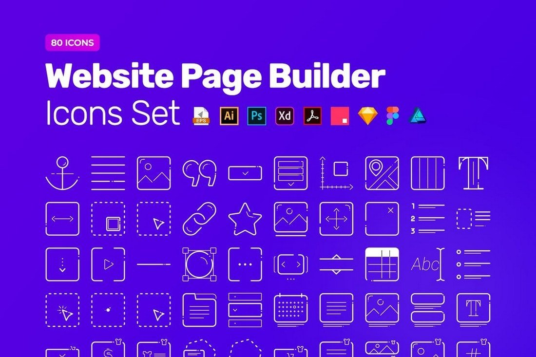 Website-Page-Builder-Icon-Pack 20+ Best Affinity Designer Templates & Assets 2020 design tips  Inspiration