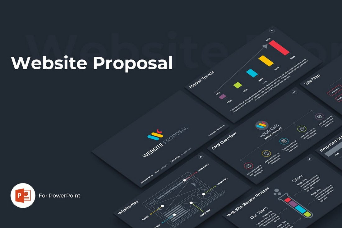 Website Proposal - Technology PowerPoint Template