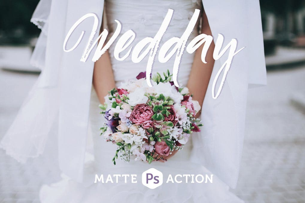 Wedday Matte Photoshop Action