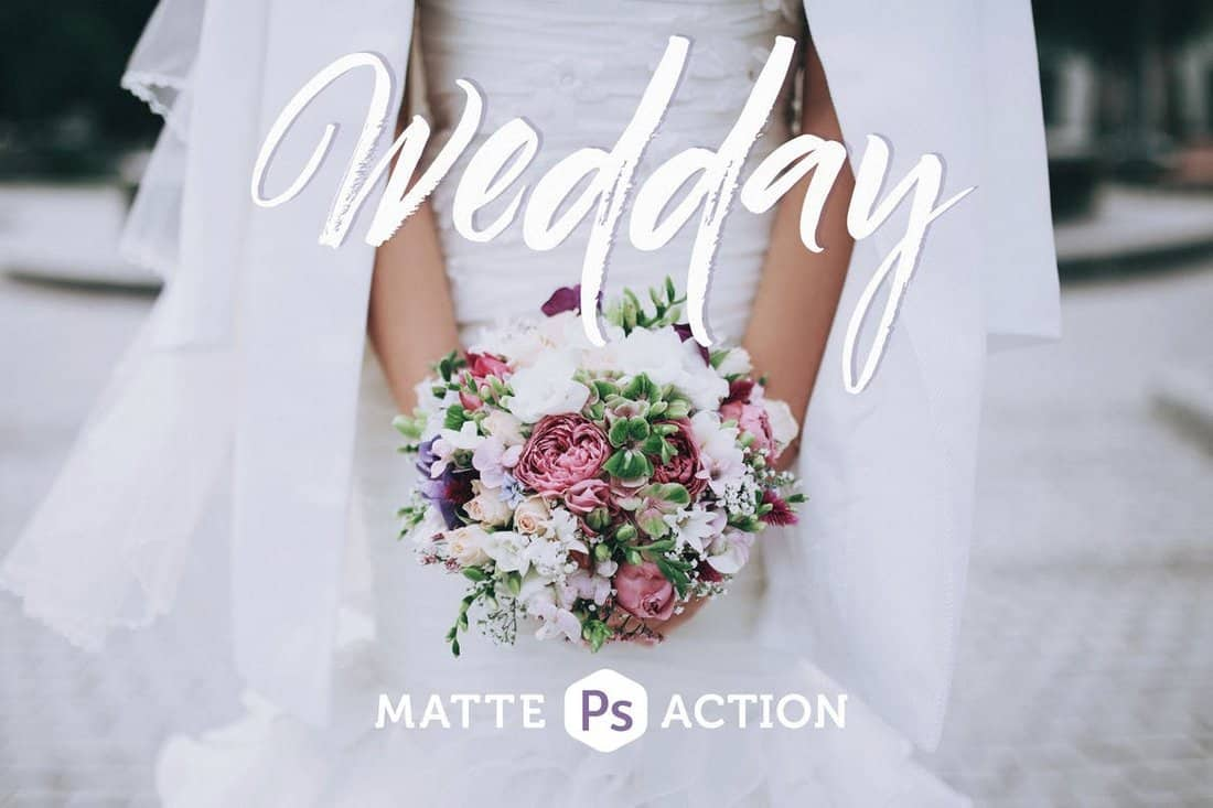 Wedday Matte Wedding Photoshop Action