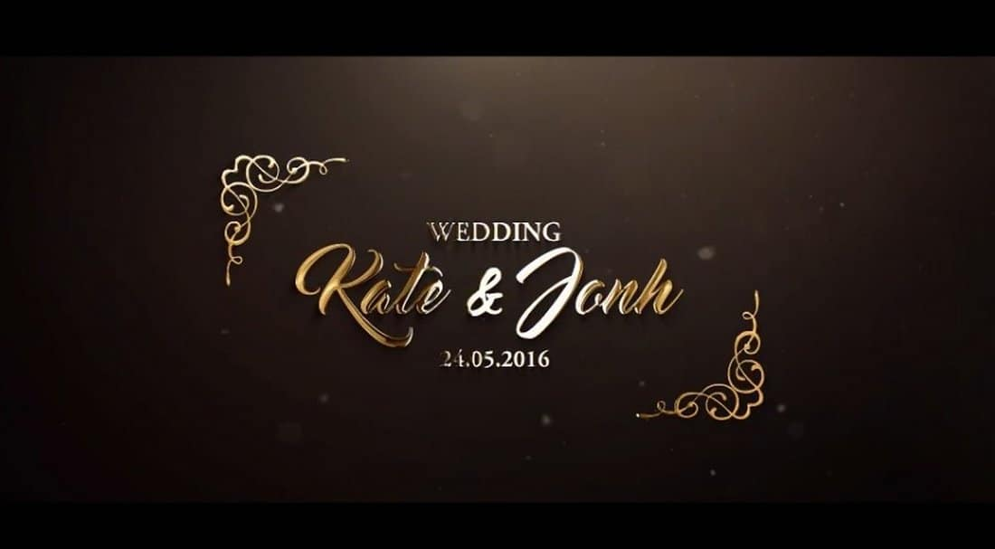 Wedding After Effects Intro Template