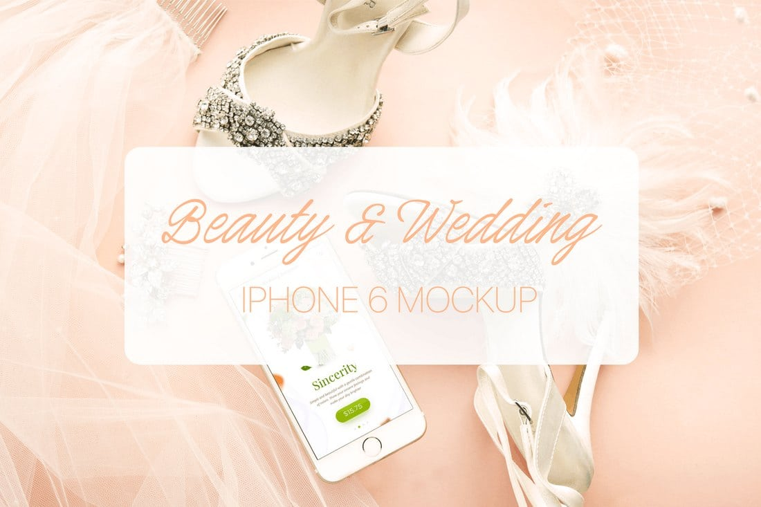 Wedding-Beauty-iPhone-6-Mockup 20+ Best iPhone 6 + 7 Mockup PSD Templates design tips