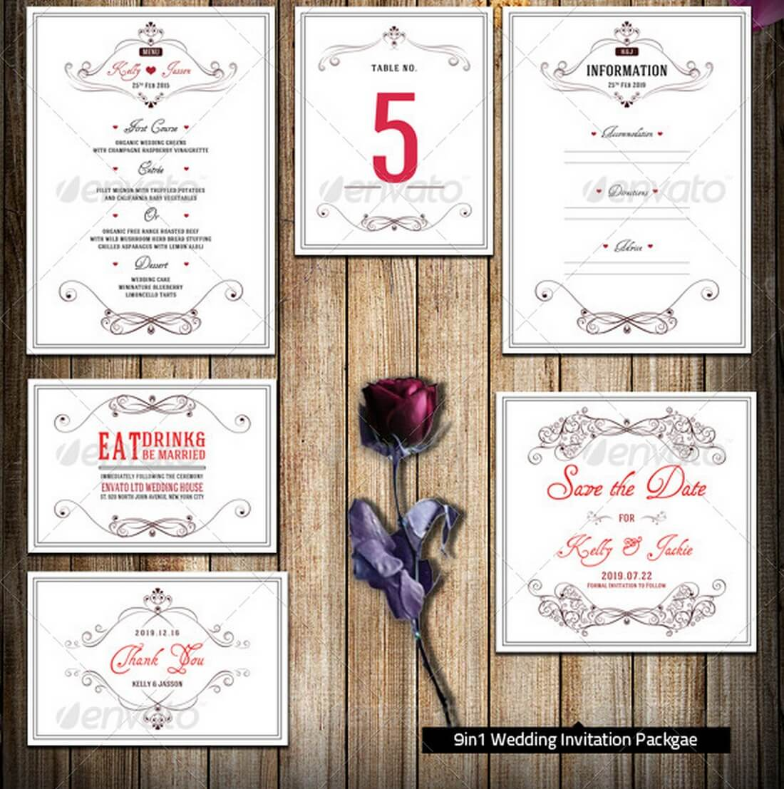 15 Gorgeous Save the Date Templates – Wedding Save the Date and Invitation Packages