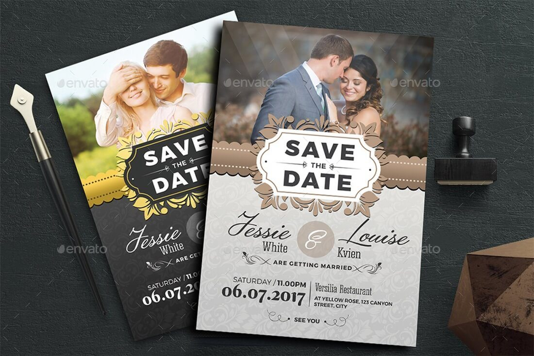 15 Gorgeous Save the Date Templates