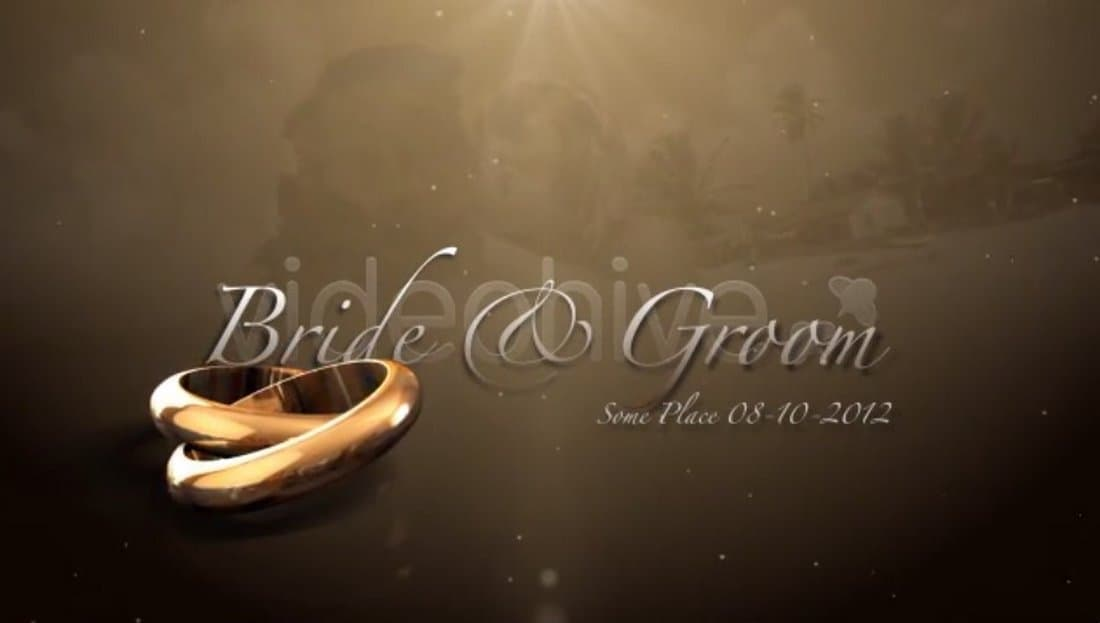 Wedding Rings Intro After Effects Template