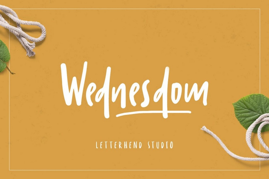 Wednesdom - Playful Handwriting Font