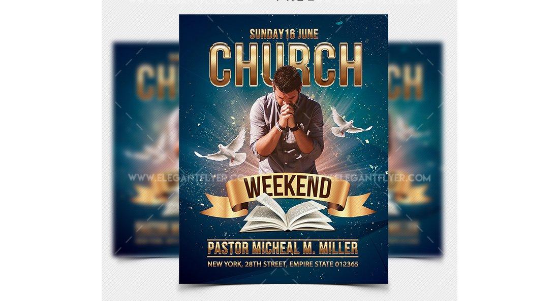 Weekend Church Event – Free Flyer Template