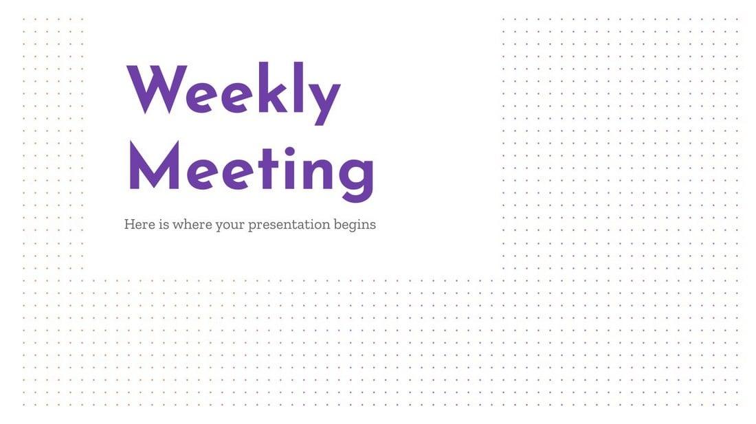 Weekly Meeting - Free PowerPoint Template