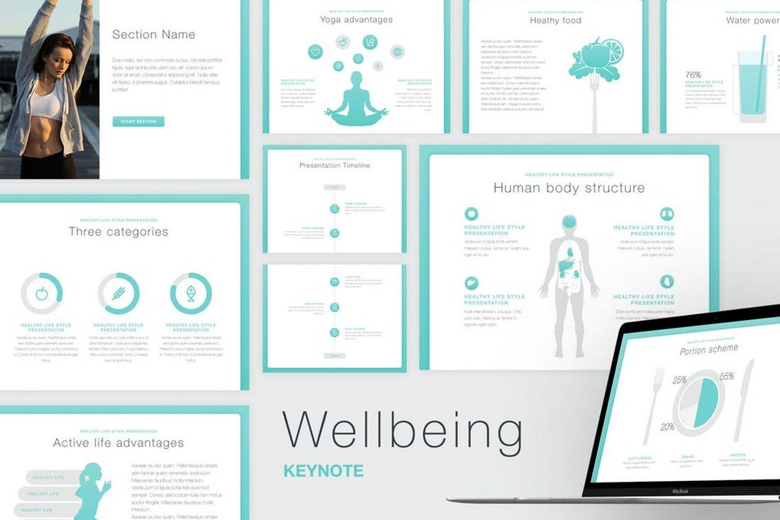 Wellbeing-Keynote-Template 30+ Best Keynote Templates of 2018 design tips