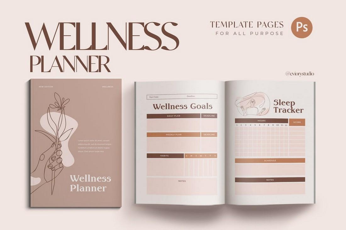 Wellness Workbook Planner Template