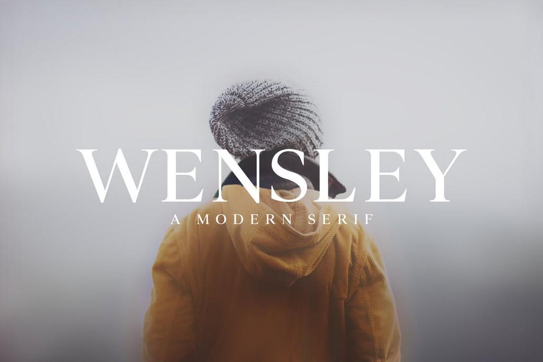 Wensley - Modern Serif Font Family