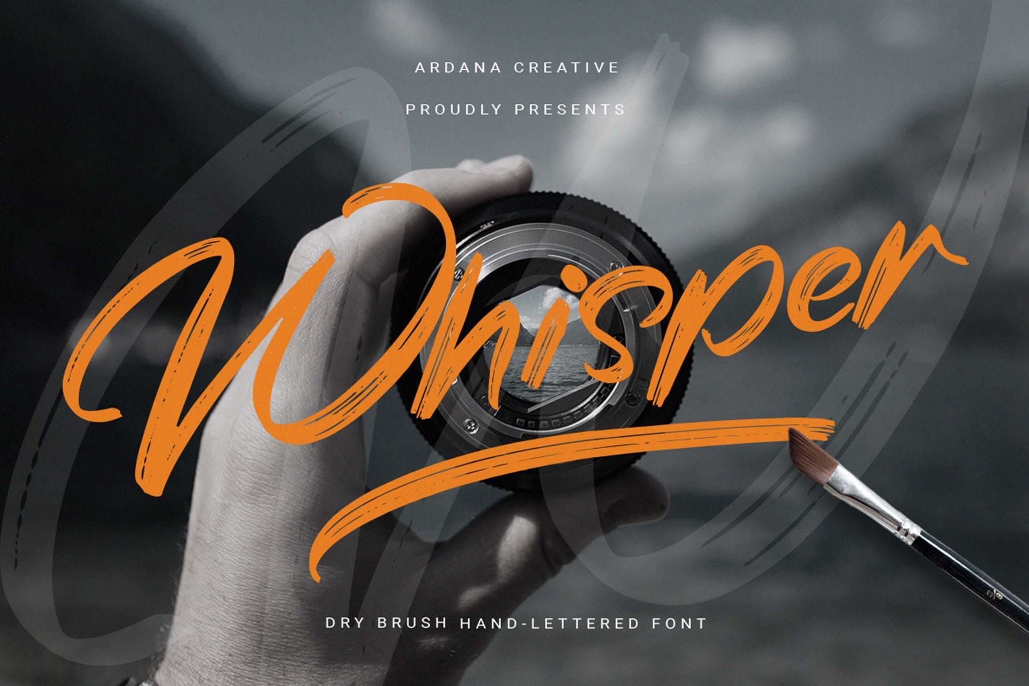 Whisper -Dry Brush Font