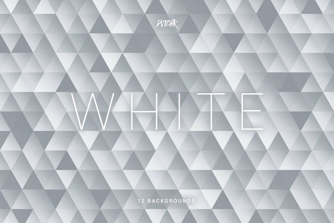 White Abstract Mosaic Backgrounds