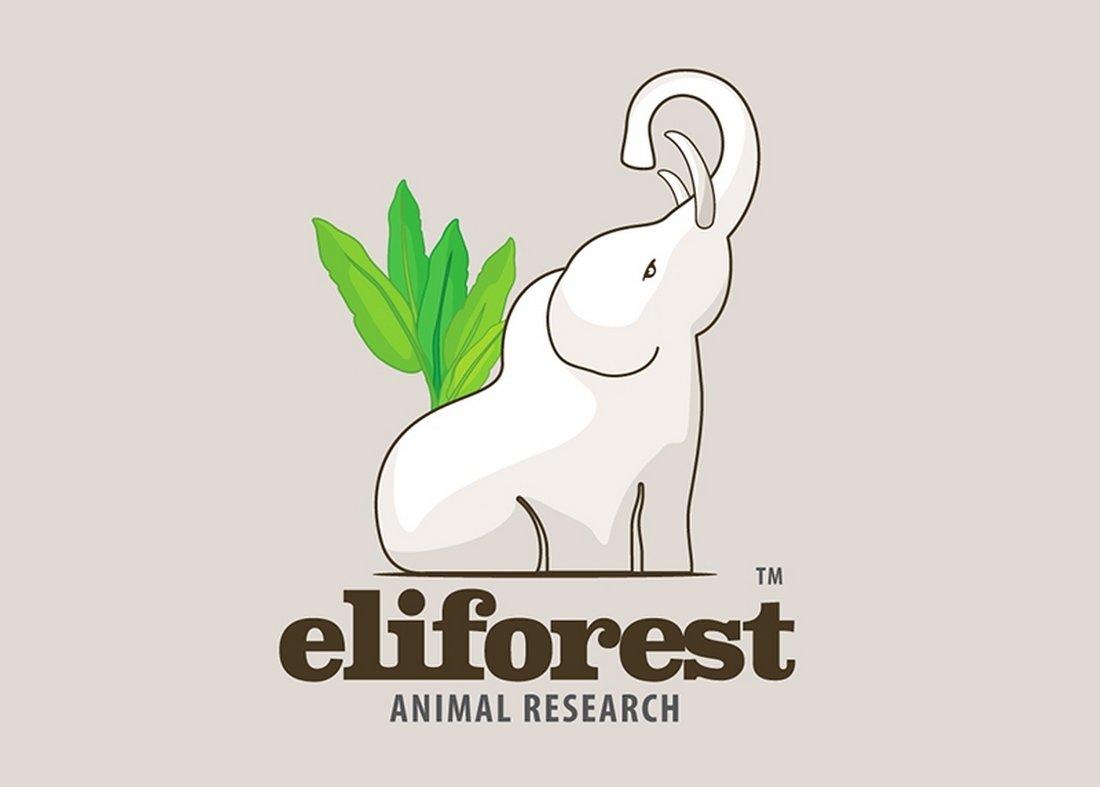 White Elephant - Free Logo Template