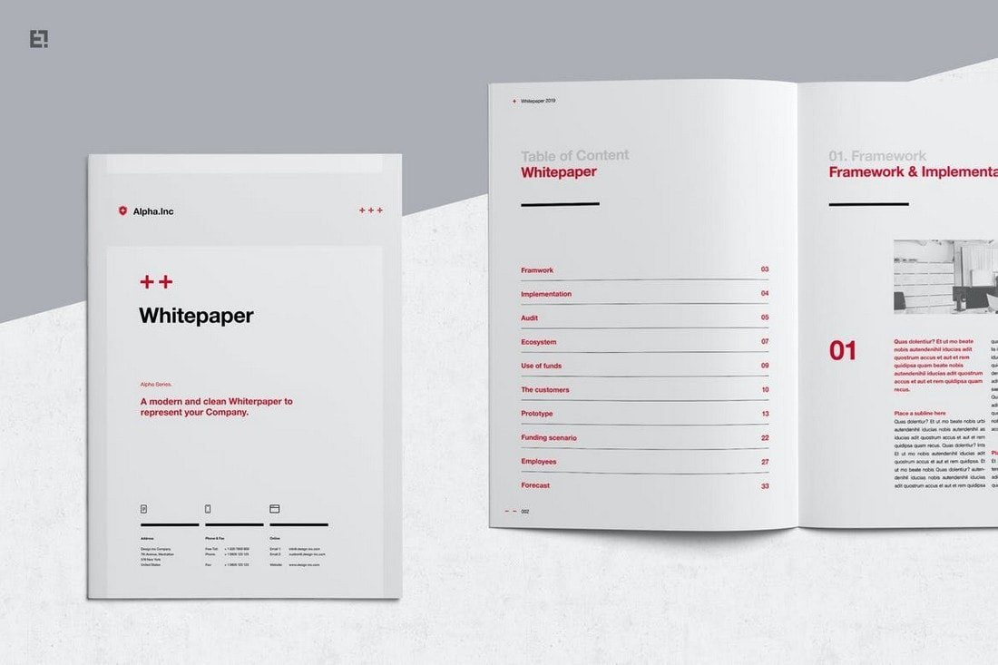 White Paper - Affinity Publisher Brochure Template