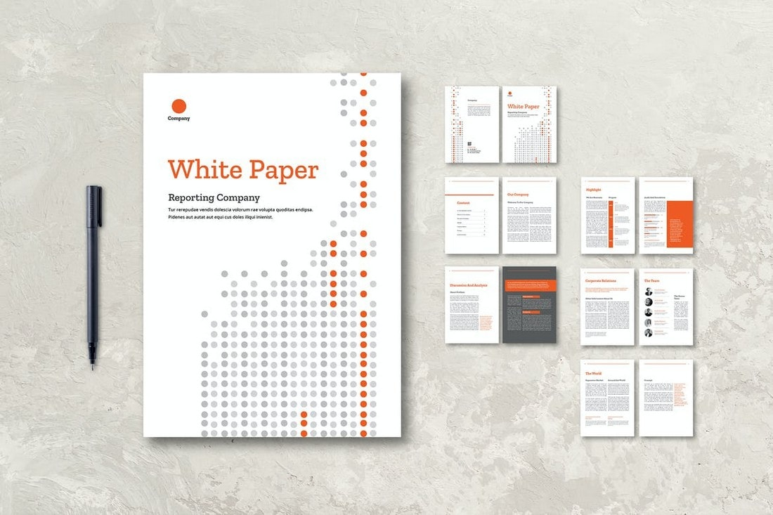 White-Paper-Company-Report-InDesign-Template 50+ Annual Report Templates (Word & InDesign) 2021 design tips