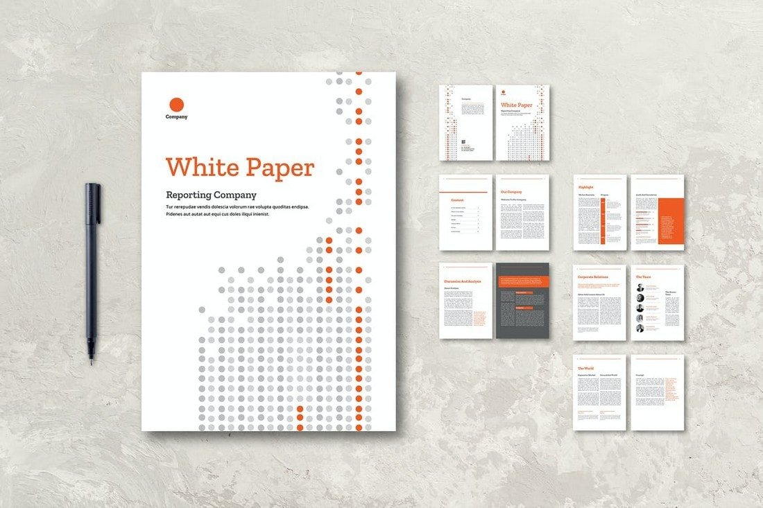 White-Paper-Company-Report-InDesign-Template 30+ Annual Report Templates (Word & InDesign) 2020 design tips  Inspiration|annual|report|template