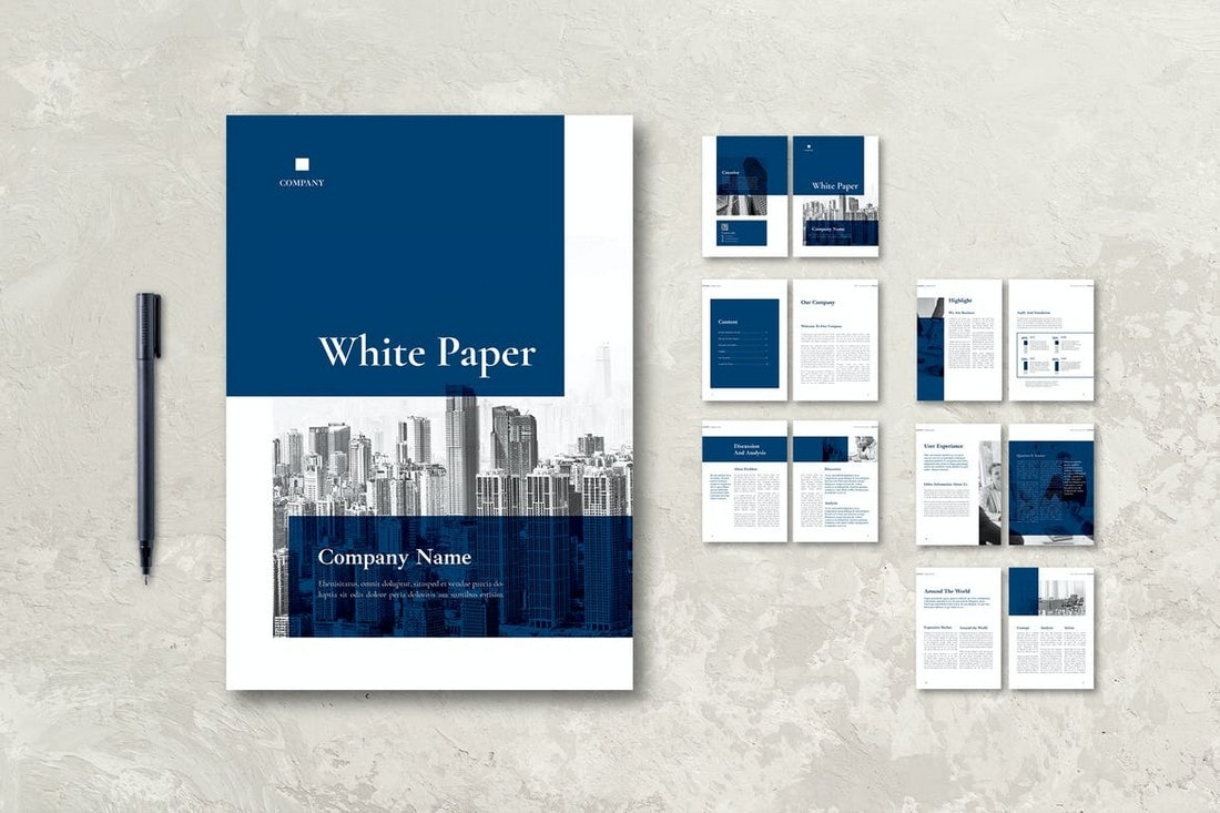 White-Paper-Corporate-Report-Template 30+ Annual Report Templates (Word & InDesign) 2020 design tips  Inspiration|annual|report|template