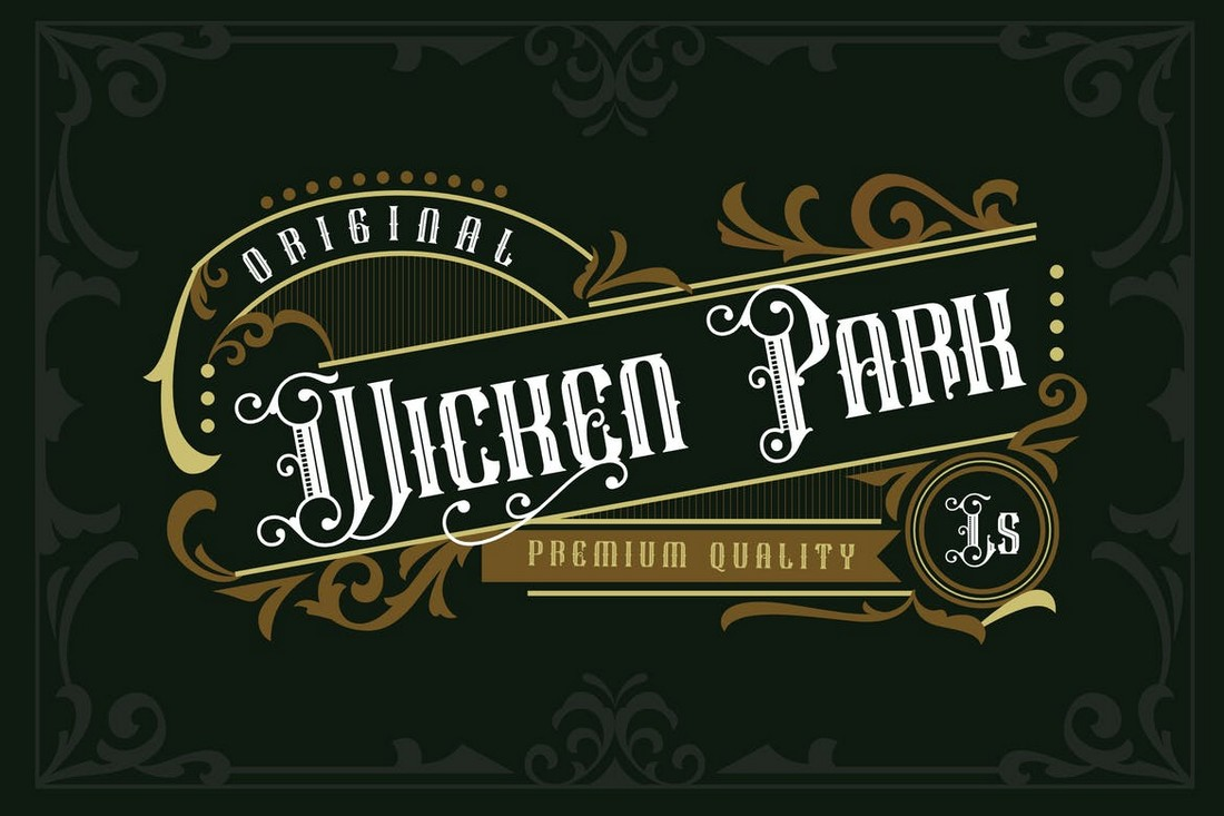 Wicken Park - Vintage Decorative Font