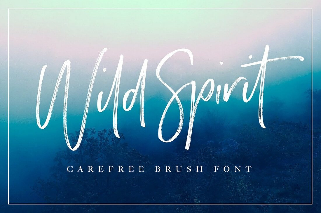 Wild-Spirit-Font 100+ Beautiful Script, Brush & Calligraphy Fonts design tips