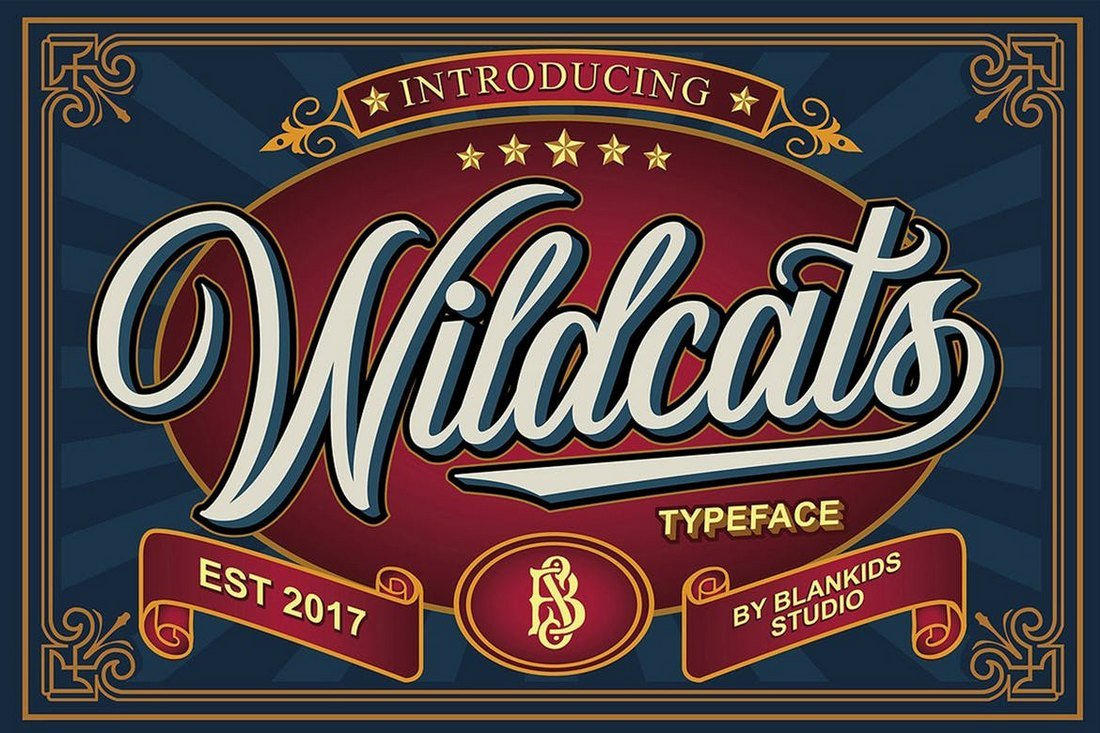 Wildcats-Vintage-Tattoo-Font 20+ Best Tattoo Fonts & Lettering design tips