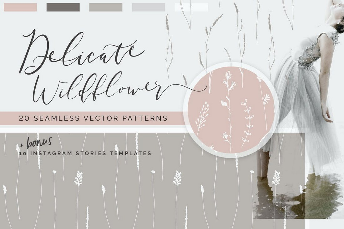 Wildflower - Simple Floral Patterns & Templates