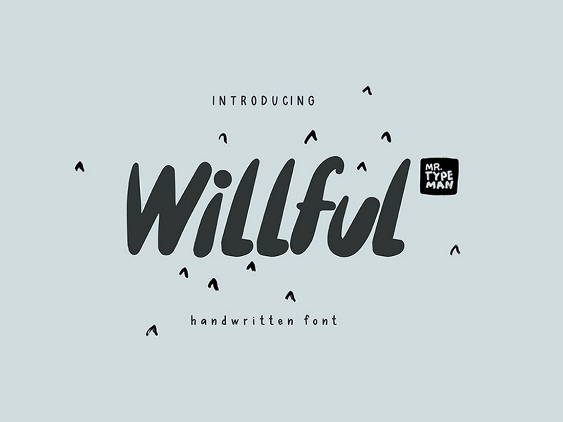 Willful - Free Handwritten Brush Font