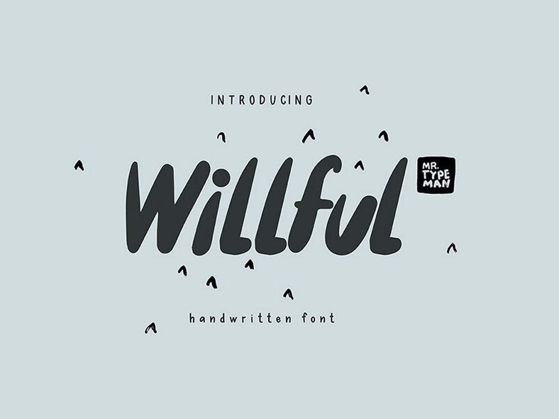 Willful Handwritten Brush Font