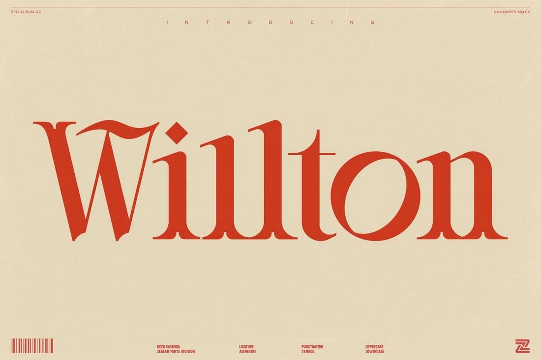 Willton - Elegant Serif Font