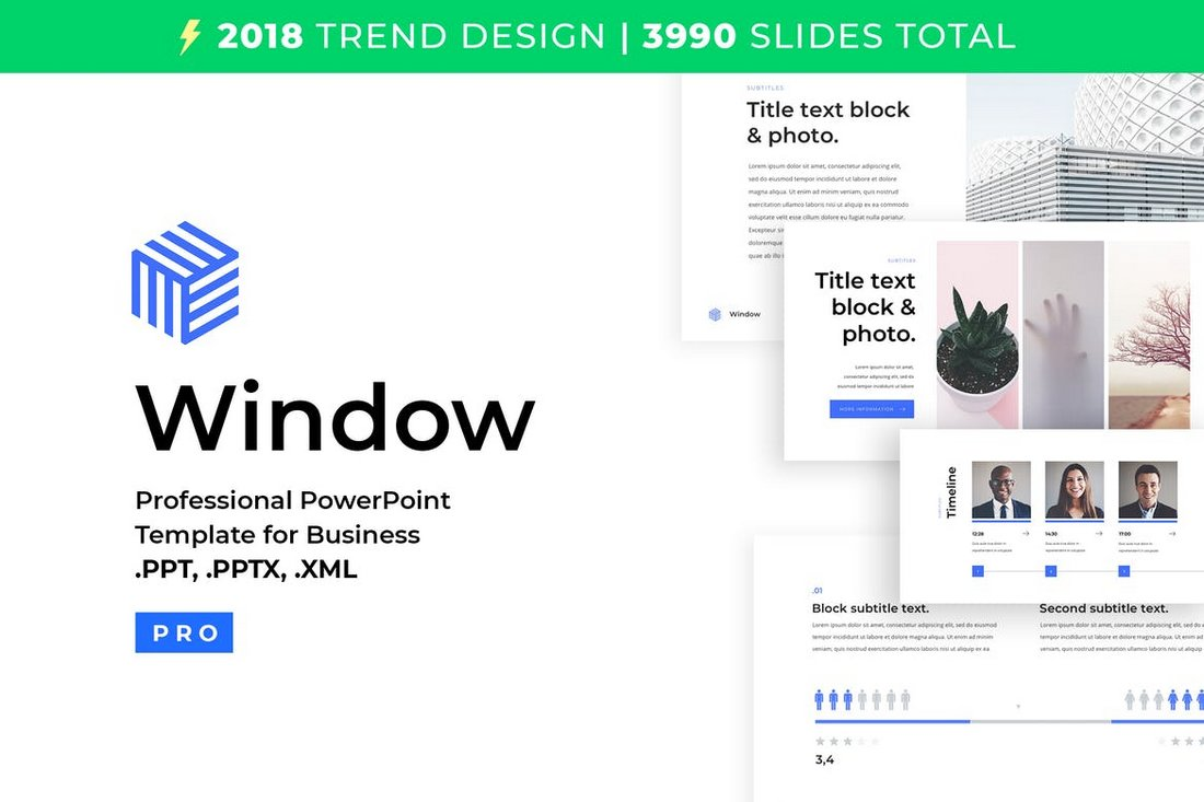 Window - Business PowerPoint Template