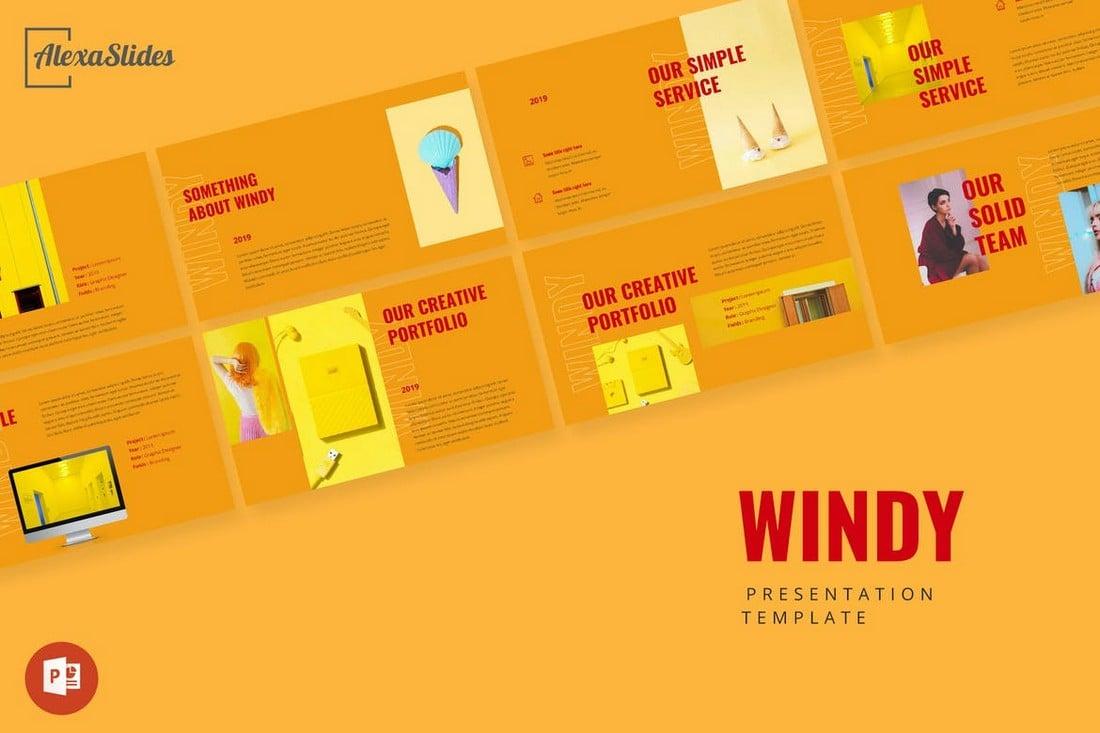 Windy - Modern Portfolio Powerpoint Presentation