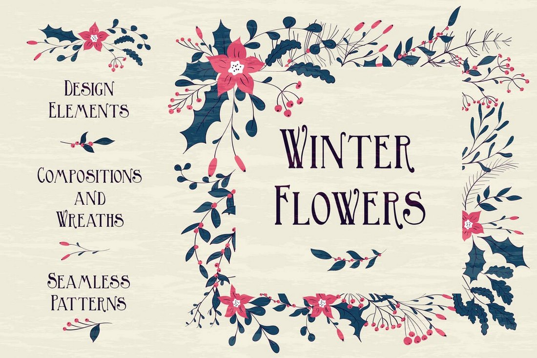 Winter Flowers Backgrounds
