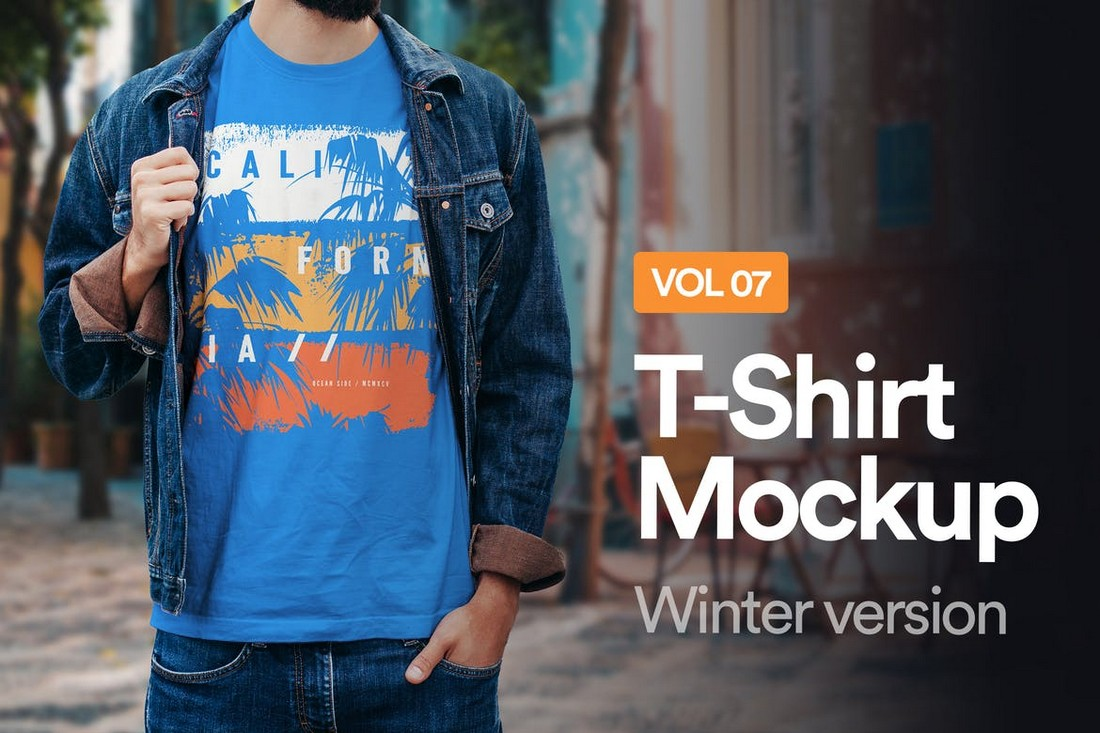 Winter T-Shirt Mockup