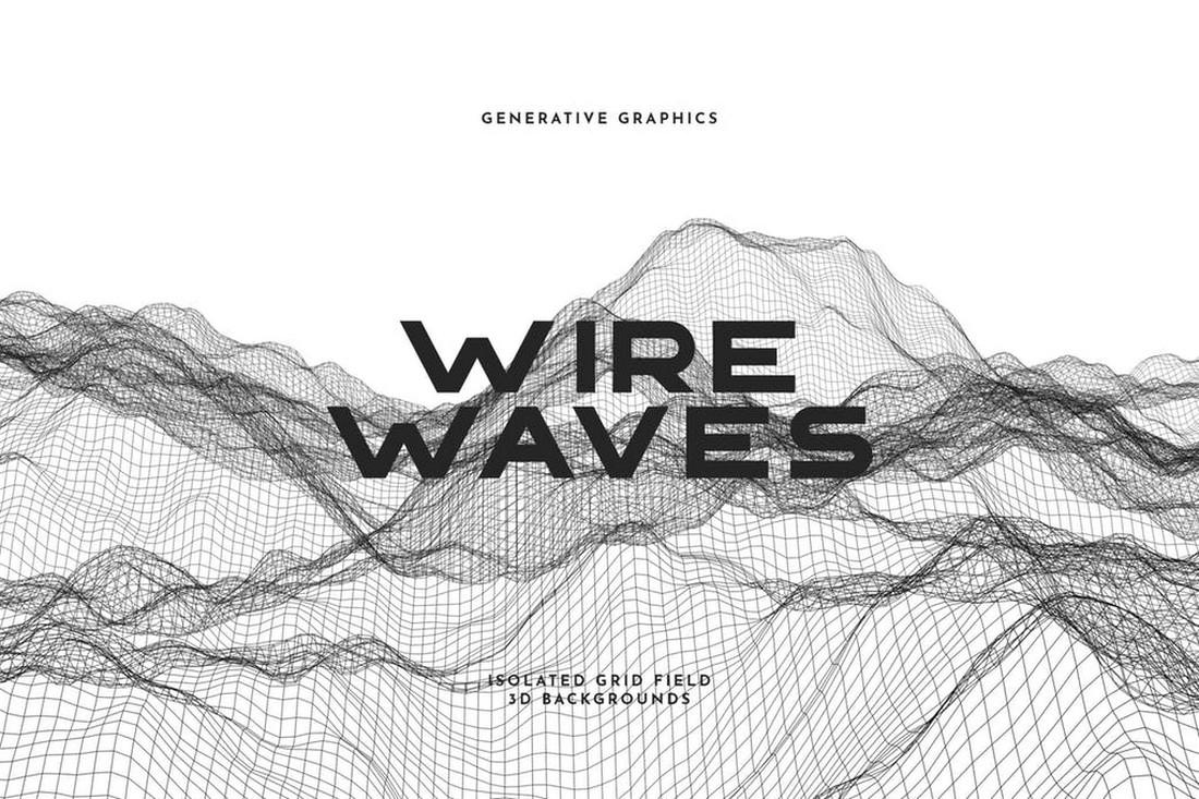 Wire Waves Background Set