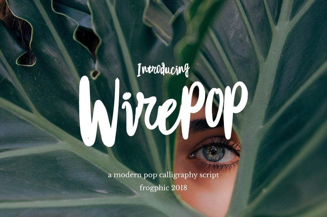 Wirepop - Fuente Creative Script