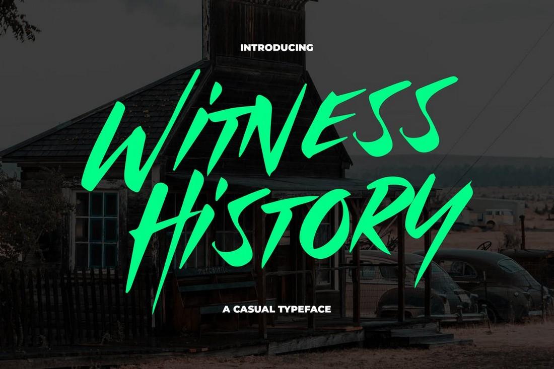 Witness History - Modern & Dramatic Font