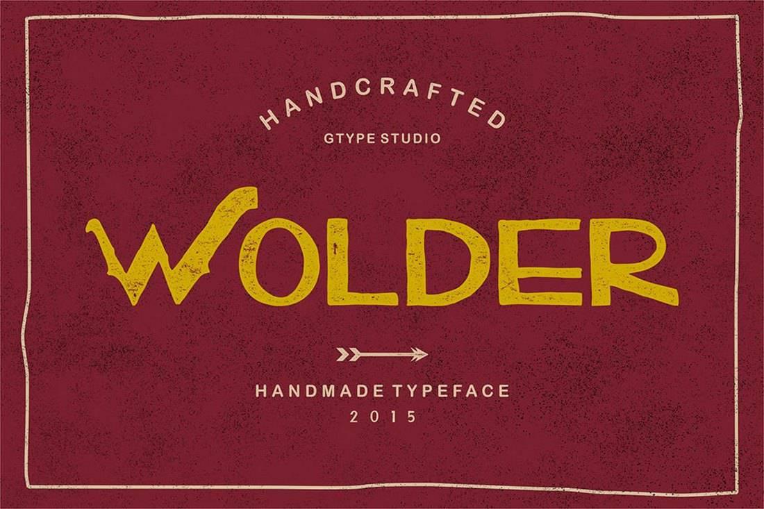 Wolder - Handcrafted Vintage Typeface