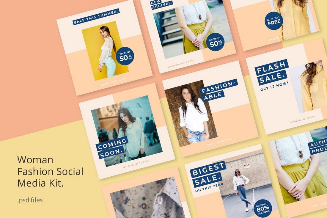 Woman Fashion Instagram Templates Kit