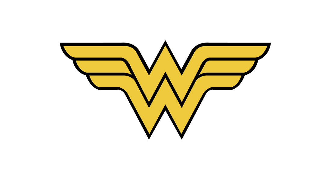 Modèle de logo Wonder Woman