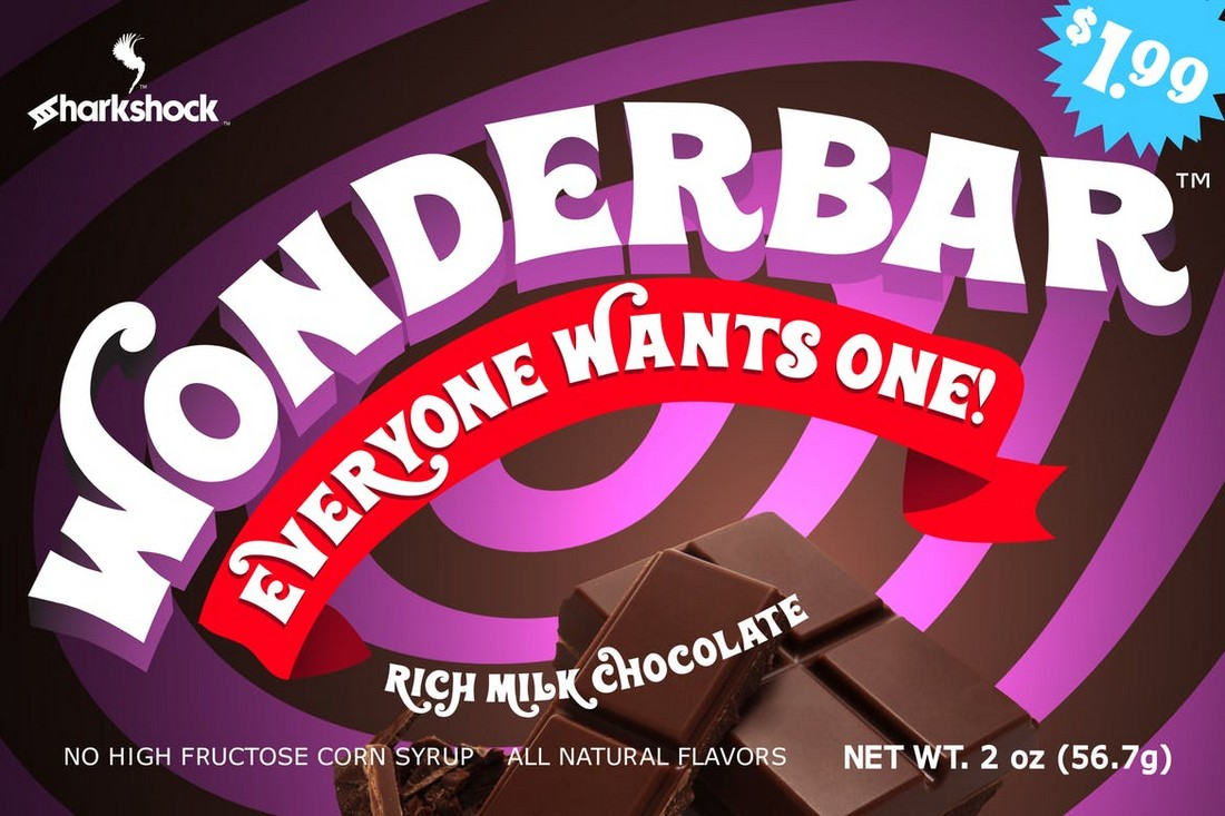 Wonderbar - Willy Wonka Cartoon Font