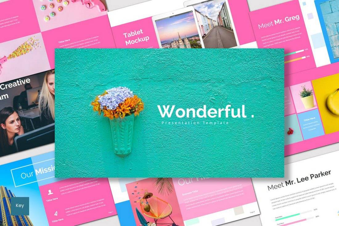 Wonderful - Colorful Keynote Template