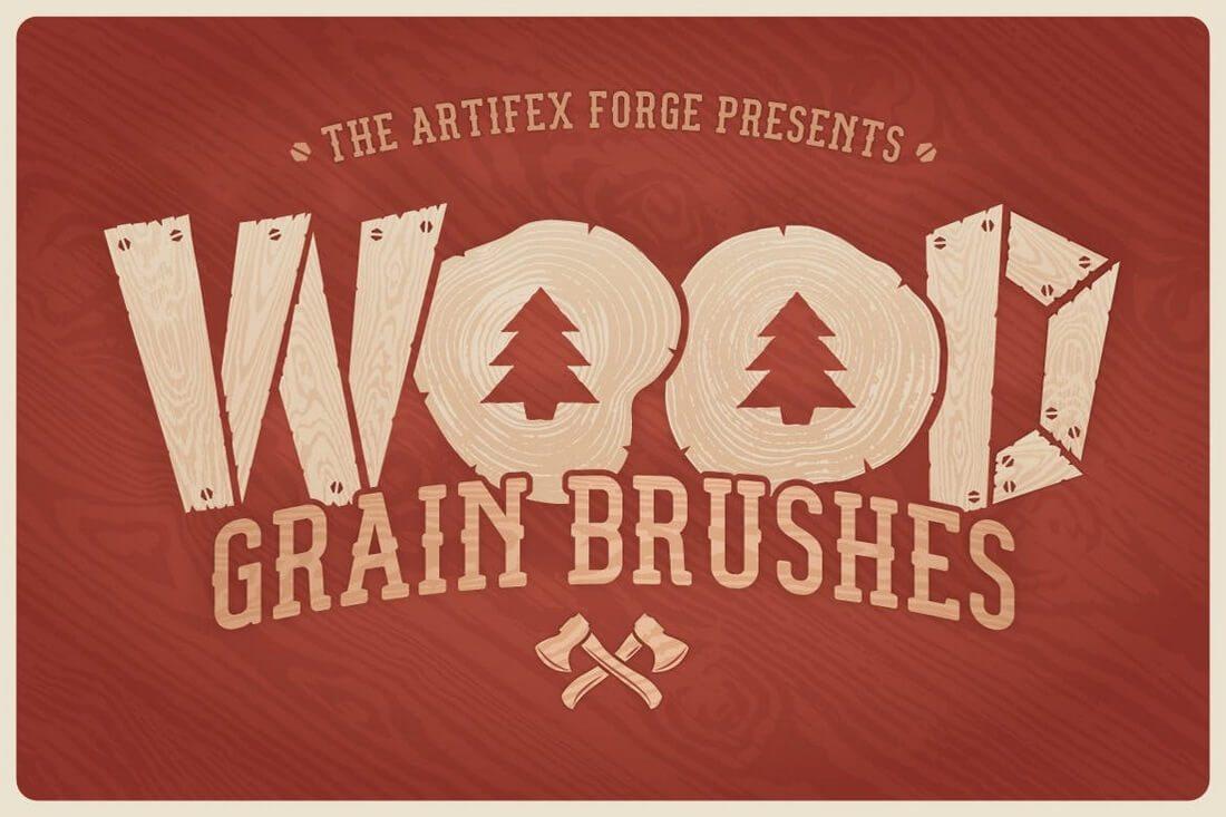 Wood-Grain-Brushes 30+ Best High-Quality Photoshop & Illustrator Brushes design tips